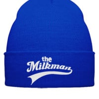 THE MILKMAN EMBROIDERY HAT - Beanie Cuffed Knit Cap