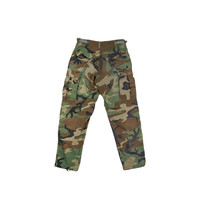 GREEN CAMO PANTS  camouflage cargo pants Miltary Army green brown olive pants grunge field gift for him Vintage Men's Small