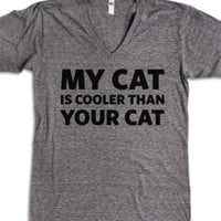 My Cat is Cooler-Unisex Athletic Grey T-Shirt