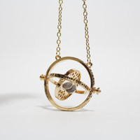 Harry Potter Hermione Time Turner Gold colored Chain Necklace