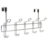 10 Hook Rack - Over the Door College Dorm Room Organization Product