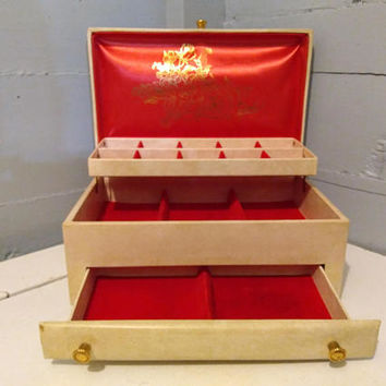 Vintage, Buxton, Jewelry Box, Large, Mid Century Modern, RhymeswithDaughter