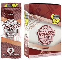Twisted Hemp Wraps Sweet Flavor (60 wraps)