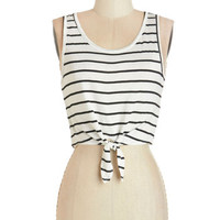 ModCloth Festival Short Tank top (2 thick straps) Cropped At High Tied Tank