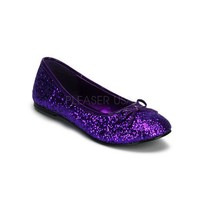 Adult Ballet Glitter Flat With Bow Accent, Fanatsy , Fairy