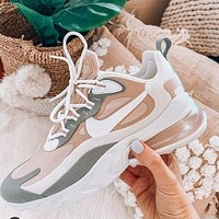 Nike Air Max 270 React Fashionable Women Personality Sport Running Shoes Sneakers