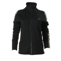 Lauren Ralph Lauren Womens Knit Embroidered Athletic Jacket