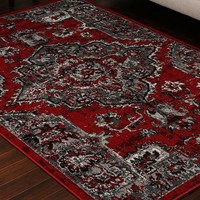 5059 Red Oriental Area Rugs