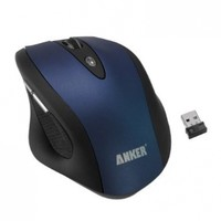 Anker® C200 Full-Size Ergonomic Wireless Mouse with 6 Buttons, 3 DPI Adjustment Levels and 2000 DPI (Blue)