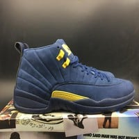 "Air Jordan 12 ""Michigan""Retro AJ12 Sneakers - Best Deal Online"