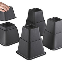 Bedtime Sleeper Bed Risers or Furniture Riser in Heights of 8, 5 or 3 Inches Heavy Duty Set of 4