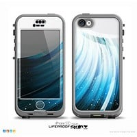 The Black and Blue Highlighted HD Wave Skin for the iPhone 5c nüüd LifeProof Case