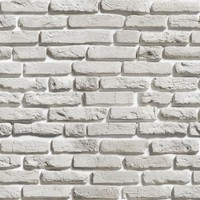 Aged White Brick Wallpaper