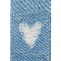 Denim Heart iPhone 5 Case