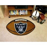 "Modern Rugs NFL Oakland Raiders Football Ball Rug 20.5""x32.5"""