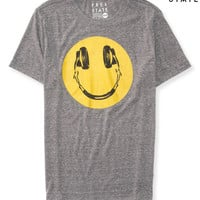 Mens Free State Headphones Face Graphic T-Shirt