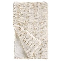 Ivory Mink Couture Faux Fur Blanket by Fabulous Furs | Quick Ship