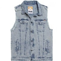 Afends The Chiller Vest - Mens Jacket - Blue