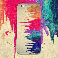 Multicolor Tie-dyed Case Personal Tailor Cover for iPhone 7 7 Plus & iPhone 5s se 6 6s Plus + Gift Box-467