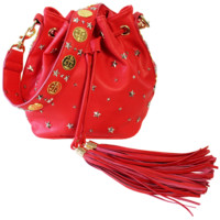 Red Coin Bucket Bag
