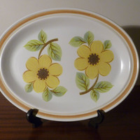 "Vintage 1973 Royal Doulton ""Summer Days"" Collection Serving Platter / Lambeth Stoneware / Retro Plate / Made in England"