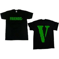 2019 New Vlone T Shirt Men Fashion Summer Cotton Hiphop T Shirt Trendy Men'S Round Neck Gift