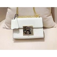 GUCCI fashion hot seller casual lady embossed clamshell single-shoulder shopping bag White