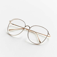 Oversized Round Metal Readers | Urban Outfitters