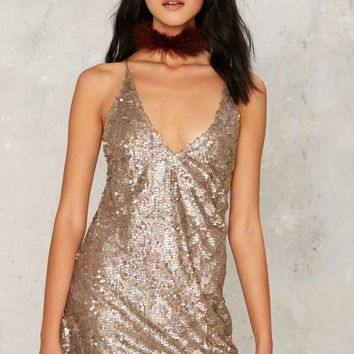 Motel Dinah Sequin Mini Dress