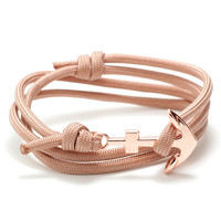 Classic Rose Gold Anchor on Blush