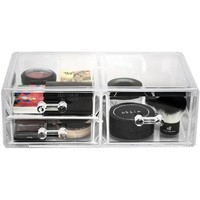 Acrylic Drawer Organizer, Large, 3 Drawers, 2 Columns - Walmart.com