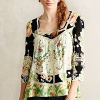 Prateria Peasant Top by Vanessa Virginia Green Motif