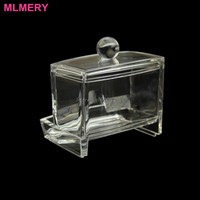 Acrylic Cotton Swab Organizer Stick Box Cosmetic Holder Makeup Storage Office -Y207 Drop Shipping