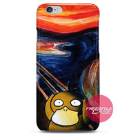 Psyduck Scream Acrylic Canvas Painting iPhone Case Cover Series