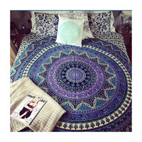 Purple Psychedelic Star Mandala Indian Tapestry Wall Hanging Beach Dorm Decor Throw – TheNanoDesigns