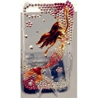 PINK MERMAID Clear Case for iPhone 4S and 4 Verison