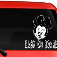 Baby on Board Mickey mouse  Automobile Car Window Ipad Tableet PC Notebook Cumputer Decal Sticker
