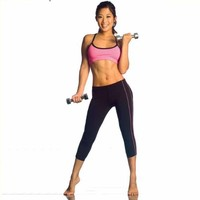 Womens Sport Capri by Fitness Wear in Black with your choice of trim color