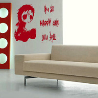Emo  im so happy wall quote transfer graphic by WallStickersExtra