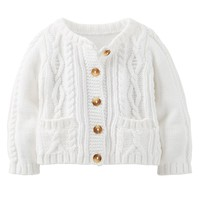 Carter's Sparkle Cable-Knit Cardigan - Baby