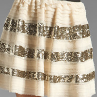 Free People Sparkle and Stripe Skirt in Champagne Combo from REVOLVEclothing.com