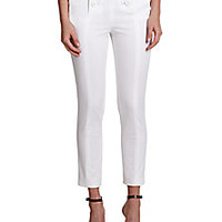 RED Valentino - Stretch Cotton Skinny Pants - Saks Fifth Avenue Mobile