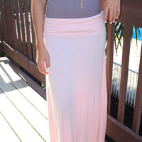 Seaboard Light Pink Maxi Skirt
