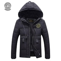Boys & Men Versace Fashion Down Cardigan Jacket Coat Hoodie