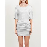 Batwing Sleeve Scoop Neck Ruched Bodycon Dress (CLEARANCE)