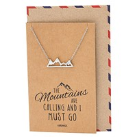 Cristina Necklace for Women, Adventure and Outdoor Lovers, Mountains Jewelry Gift