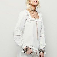 Free People Womens It's Your Thing Poplin Peasant Top