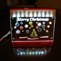 Christmas Light LED lit Merry Christmas decoration ornamental light with stand