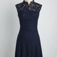 Celebrate Success Dress in Navy