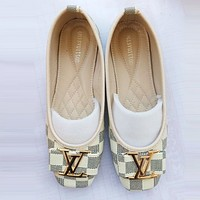 Alwayn LV Louis Vuitton Popular Women Casual White Plaid Single Shoe